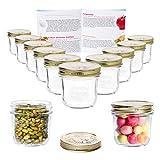 MamboCat 12er Set Quattro Stagioni Glasdose 200 ml Compound im Deckel Vorrats-Behälter Aufbewahrungs-Dose Dessert-Gläschen Früchte-Becher Lebensmittel konservieren