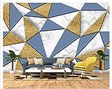 Creativo Geometría Minimalista 3D Moda Papel Tapiz Oro a Cuadros geométrico Suave Bolsa de Fondo Papel Tapiz Mural Papel Tapiz de Papel Papier peint-400x280cm