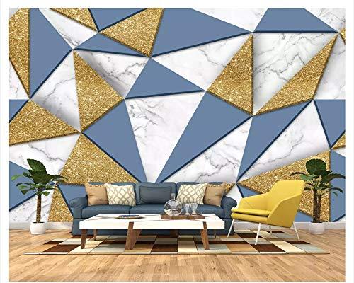 MuralXW Kreative 3D minimalistische Geometrie Modetapete Moderne Mode Gold Karierten geometrischen Softbag Hintergrund Tapete Wandbild Tapete Papier Peint-280x200cm Kaiser Roll