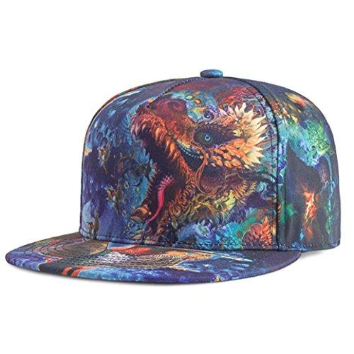 Imagen de zarlle  beisbol hombre mujer sombrero de snapback plano al aire libre flor hip hop  de béisbols viseras impresión a color patrón sombrero   de béisbol talla única, b