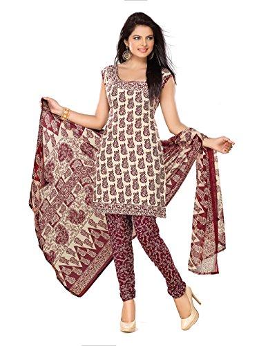 Florence Women's Dress Material (SB-1549_Beige_Freesize)