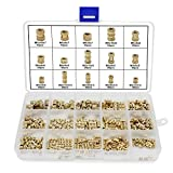 HSeaMall 330 PCS M2 M3 M4 M5 Filetage Femelle Noix Meulées Rond Injection Moulage Laiton Insert Inséré Nuts Assortiment Kit (Female Thread Nut Kits 330PCS)