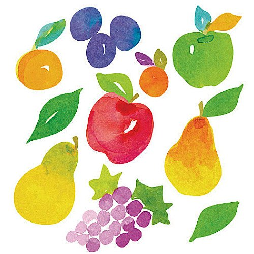 wallies-autocollants-juicy-fruits-en-vinyle-multicolore