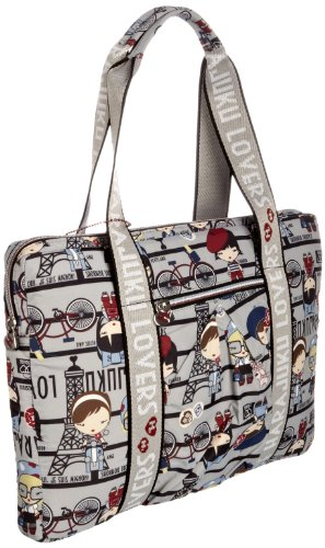 Harajuku Lovers 8911PF11PL, Damen Laptoptasche, Beige (plaid camper) Beige (plaid camper)