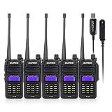 Baofeng R760 5PCS Wasserdicht IP57 136-174/400-520MHZ VHF/UHF Dual Band Amateur Handfunkgerät Two Way Radio Walkie Talkie+Programmierkabel-Lightwish