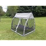 siena garden 500774 hamac avec moustiquaire de jardin acier argent jardin. Black Bedroom Furniture Sets. Home Design Ideas