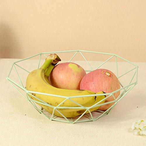 WANG-shunlida Kreative Eisen Warenkorb einfache Wohnungseinrichtung Obstteller Wohnzimmer Küche Haushalt Verbrauchsmaterialien Speicher Warenkorb Snacks, C -