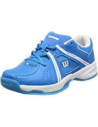 Wilson Envy Jr Bl/Wh/Hawaiian, Chaussures de Tennis Mixte Enfant
