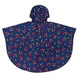 Juleya antivento antipioggia Bambini pioggia CapeKids Spesso Poncho di viaggio per i ragazzi & Gilrs S / 4-8 anni (Blu)