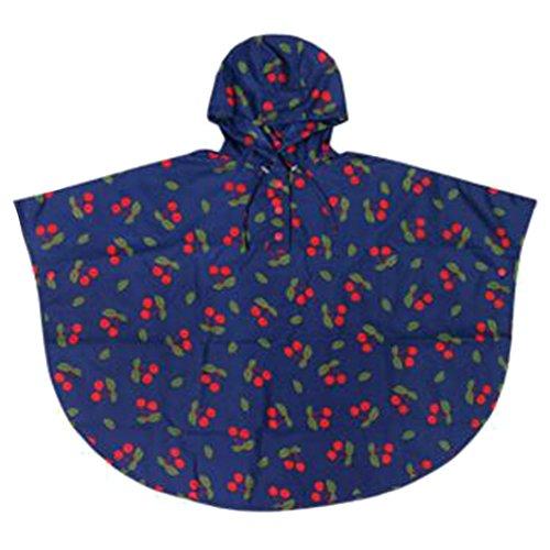 Highdas antivento antipioggia Bambini pioggia CapeKids Spesso Poncho di viaggio per i ragazzi & Gilrs (Leggero Pioggia Poncho)