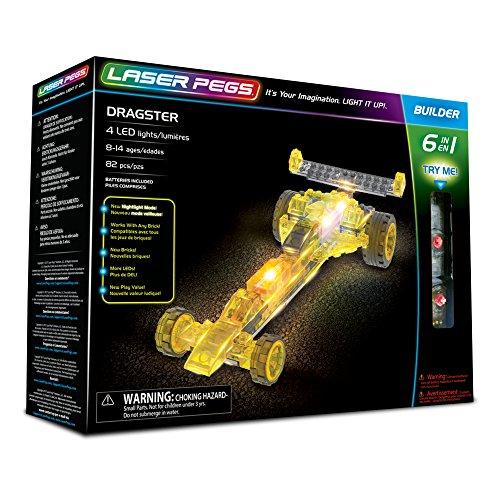 Laser Pegs 61012 Dragster - Set construcción 6 1