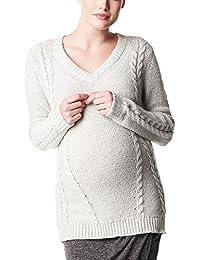 Noppies Damen Regular Fit Umstands Pullover ls Hailey, Einfarbig