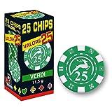 25 Chips 11,5g Verde VALORE 25 Texas Hold'em Modiano POKER CARTE GIOCO