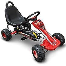 Stamp J893002 Kart à Pédale Mixte Enfant, Rouge