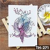 5Pc-Totem Di Fiori Dream Catcher Farfalla Luna Tatuaggio Adesivo Pendente Bambola Tatuaggi Ad Acquerello Body Art Tatuaggi Tatoo-In Da 23-Th-271
