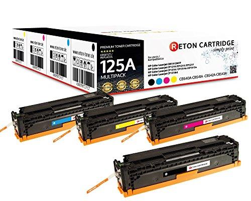 Preisvergleich Produktbild Original Reton Toner, kompatibel, 4er Farbset für HP CP1515n (CB540A, CB541A, CB542A, CB543A), HP 125A, COLOR LASERJET CM1312 MFP, CM1312NFI, CM1300, CP1210, CP1215N, CP1217, CP1510
