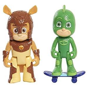 PJ Masks - Pack de 2 figuras Gekko y Armadylan (Bandai 95266)