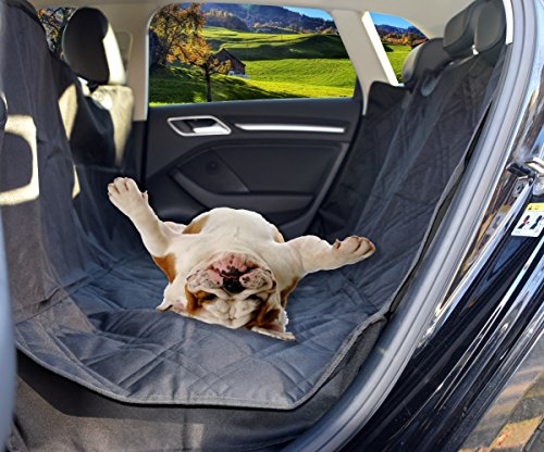 Waterproof Dog Seat Cover – Hammock – For Cars, SUV With Seat Anchors- Side Flaps – Barrie Dog Seat Cover-Nonslip-Machine Washable – 100% Satisfaction Guaranteed – Black - Car Enterprise