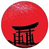 Wandtattoo Asien Asiatischer Tempel Wandsticker Wanddeko Wohnzimmer Japan Deko