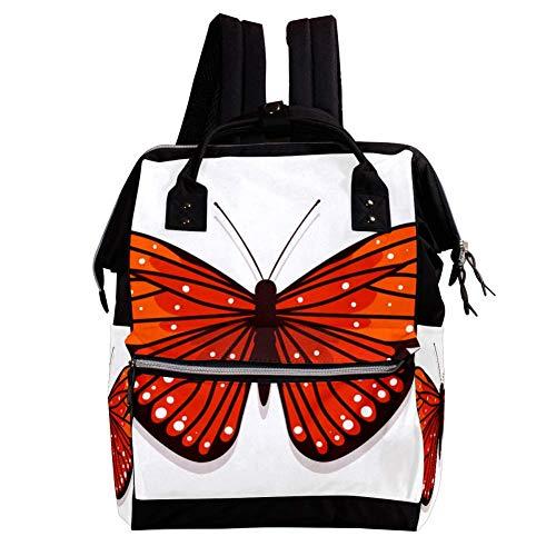 Große Kapazität Lässig Mädchen Junge Rucksack Multifunktions-Kinderrucksack Diebstahlsicherung Tagesrucksack für Wandern Reisen Camping 27x19.8x36.5cm Schmetterling - 0132 - 0132 Laptop
