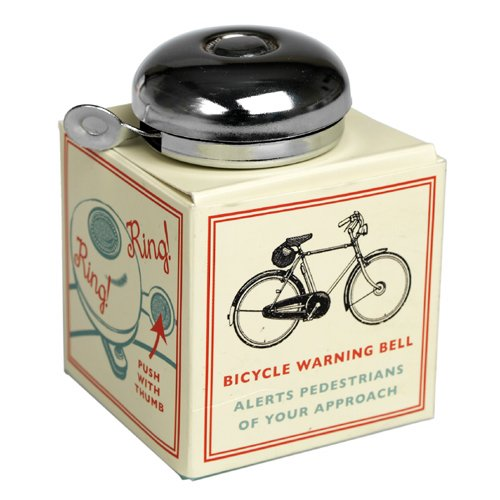 Classic Chrome Bicycle Bell. Let everyone know you're coming through - just like you did back in your school days - with this traditional style bike bell.