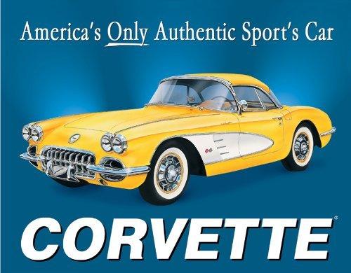 JTY store Vintage Wandkunst Dekor Zeichen 58 Corvette America's Car Home Bar Pub Club Cafe Man Cave Dekor 20CM X 30CM Metal Tin Sign Blechschild WJ0596
