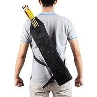 Carcaj G4Free para arquería, de lona para caza para llevar en la espalda, negro