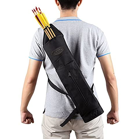G4Free Archery Deluxe Canvas Retour Arrow Quiver Hunting Target Arrow Quiver