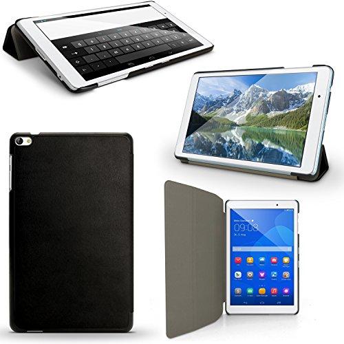 igadgitz U5404 PU Ledertasche Hülle Cover für Huawei MediaPad T2 10.0 PRO - Schwarz