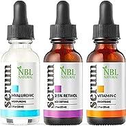 NBL Natural Anti Aging Set with Vitamin C Retinol and Hyaluronic Acid Serum for Anti Wrinkle and Dark Circle R