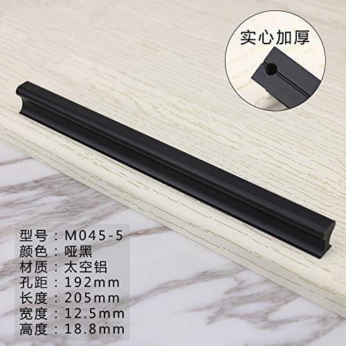 Raum Aluminium solide Schranktür schwarze Schublade modernen minimalistischen Möbeln langen Griff kleinen Griff M045-5 (Einfachheit Besteck Set)