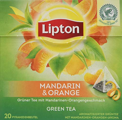 Lipton Grüner Tee, Mandarine Orange Pyramidenbeutel, 20 Stück - Tee-orange Lipton