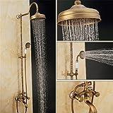 europäischen stil retro - kupfer, keramische geschnitzte basis, dusche, bad, dusche, wasserhahn