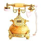 LLP LM Retro Jade vergoldet Telefon Festnetz Zuhause Geschenk Dekoration Fixed Telefon Festnetz