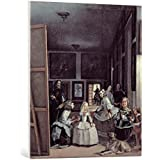 """Cuadro en lienzo: Diego Rodríguez Velázquez """"Las Meninas"""" - Impresión artística de alta calidad, lienzo en bastidor, 70x80 cm"""