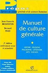 estimation pour le livre Manuel de culture générale : Histoire,...