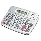 Pokerty Calcolatrice Sveglia, calcolatrice per Voce Umana in plastica per Computer Desktop con Schermo a 8 cifre e Sveglia