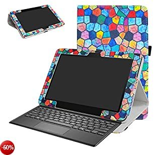 """Asus T103HAF Custodia,Mama Mouth slim sottile di peso leggero con supporto in Piedi caso Case per 10.1"""" Asus Transformer Mini T103HAF Tablet PC,Stained Glass"""