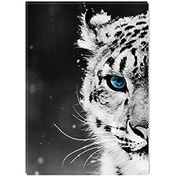Startonight Cuadro Sobre Lienzo en Blanco y Negro Ojo de Leopardo, Impresion en Calidad Fotografica Enmarcado y Listo para Colgar Diseño Moderno Decoración Formato Grande 60 x 90 CM