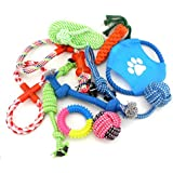 SMALLLEE_LUCKY_STORE XCW0020 Various Cotton Rope Interactive Toys Collection For Dogs, Multicolor, Medium