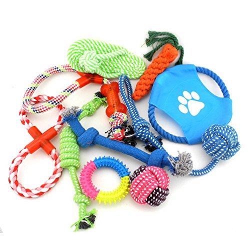 SMALLLEE_LUCKY_STORE XCW0020 - Colección de juguetes interactivos para perros, varios colores, tamaño...