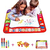 BCMRUN wasserbasierte magische Kritzelmatte,80x60 cm malen kritzeln Wassermatte mit 4 Wasserzeichenstiften für Kinder
