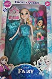 #8: Siddhi Vinayak™ Frozen Classic Fairy 2 Doll Set Big and Small with Hair Accessories.