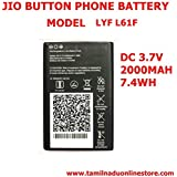 Pcs System JIO 4g Button Phone Battery Compatible Battery Suitable For Jio LYF - F61F Button Type Mobile(Only BatteryOnly) Suitable For LYF Jio F61F Button Type Mobile