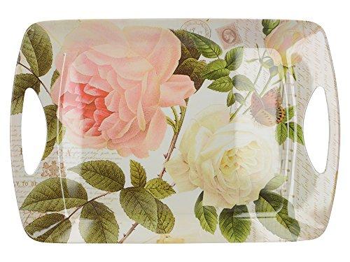 Creative Tops Rose Garden Kleines, luxuriöses Serviertablett aus Melamin, 38,5 x 20 cm (15 x 7¾ Zoll) - Butterfly Garden Tray