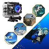 Action Cam, icefox 2K 16MP Unterwasserkamera, WIFI Fernbedienung, 2.0 Display Helmkamera, Wasserdicht Sport Action Kamera mit 2 Akku und kostenloses Zubehör  für Action Cam, icefox 2K 16MP Unterwasserkamera, WIFI Fernbedienung, 2.0 Display Helmkamera, Wasserdicht Sport Action Kamera mit 2 Akku und kostenloses Zubehör