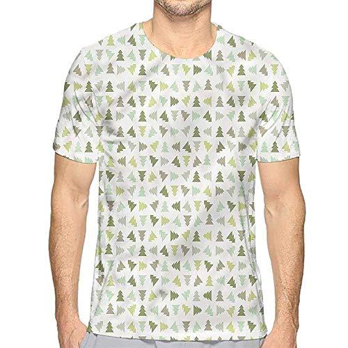 T-Shirt für Männer Winter, Schneeflocke Sonnenbrille Handschuhe Custom T-Shirt, XL