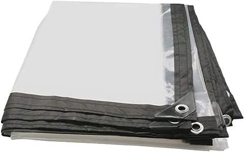 14 Tailles LSXIAO B/âche Transparente R/ésistant /À La Pluie Et /À La Poussi/ère Couverture Isolante V/ég/étale Film Souple en PVC Transparent Oeillet M/étallique Store Ext/érieur for Terrasse