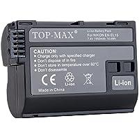 TOP-MAX® EN-EL15 Li-ion Battery for Nikon 1 V1 D7200 D7100 D750 D600 D7000 D810 D610 D750 D800E D810A D800 Digital SLR Camera,Nikon Battery Grip MB-D11 MB-D12 MB-D15 MB-D17