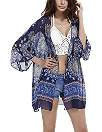 Y-BOA Blouse Chiffon Bohême Kimono Cover Up Cache Maillot Bikini Femme Plage